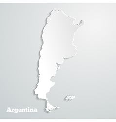 Abstract icon map of argentina vector