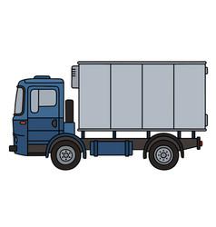 blue cargo truck vector image vector image