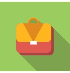 Briefcase flat icon vector