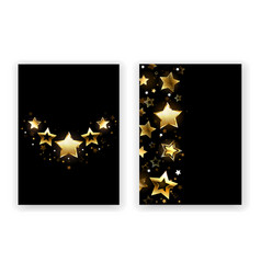 brochure design with golden stars vector image vector image