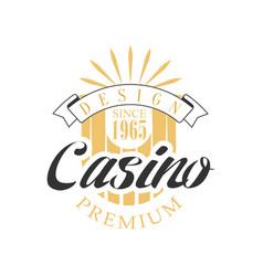 casino premium logo design colorful vintage vector image vector image