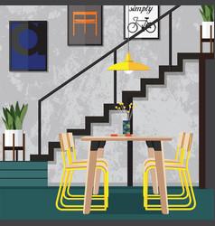 Dining room design ideas vector