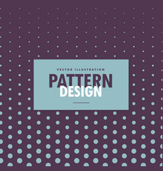 Dots pattern design on purple background vector