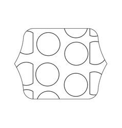 Edge quadrate with memphis geometric figure vector