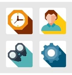 Flat icons set vector