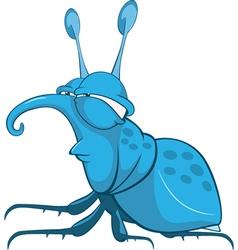 Funny bug cartoon character vector