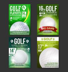 Golf poster set design for sport bar vector