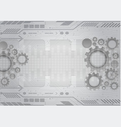 gray gear abstract background with copy space vector image