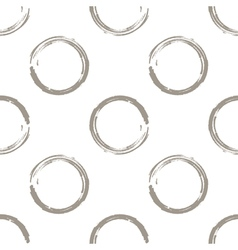 Grunge white coffee circles on white background vector