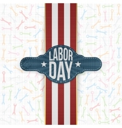 Labor day emblem on white backround vector