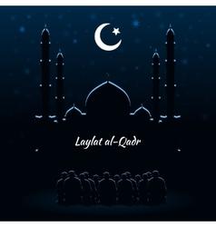 Laylat al-qadr islamic celebration vector