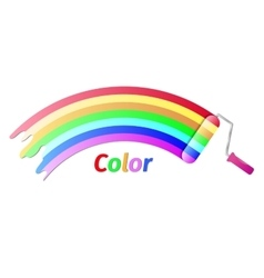Paint roller color vector image vector image