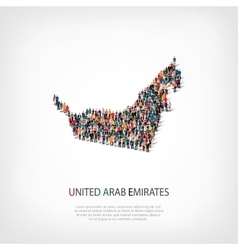 people map country UAE vector image vector image