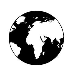 planet icon design vector image vector image