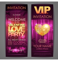 Set of disco background banners vector image vector image