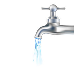 silver tap with water vector image