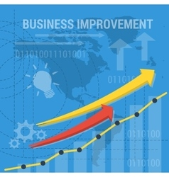 Square background business improvement vector