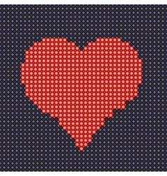 Stylized heart vector image vector image