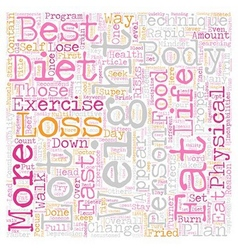 The best rapid weight loss techniques text vector
