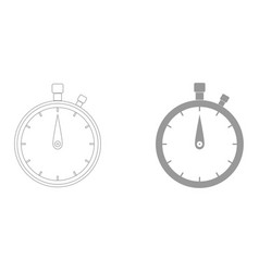 The stopwatch the grey color icon vector