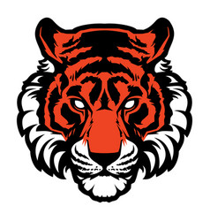 tiger animal mascot head logo vector image vector image