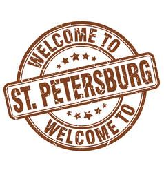 Welcome to st petersburg vector