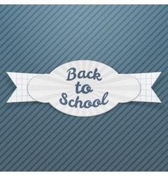 Back to school sale paper tag with text vector