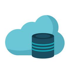 Cloud data base technology vector