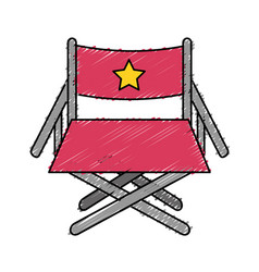 Director seat to cinematography production vector
