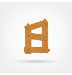 Wooden Boards Number Eight vector image