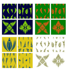 oriental assembly of patterns vector image