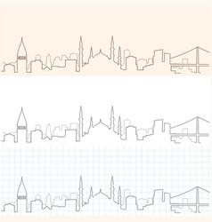 istanbul hand drawn skyline vector image