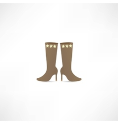 Women Boots Icon vector image