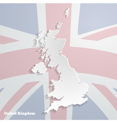 Abstract icon map of united kingdom vector