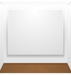 Blank canvas on display vector image