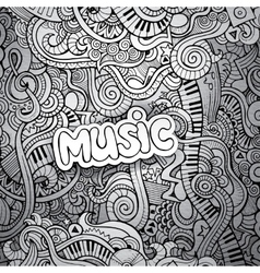 Music sketchy notebook doodles vector