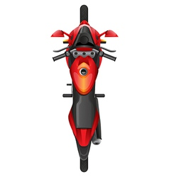 A topview of a motor bike vector
