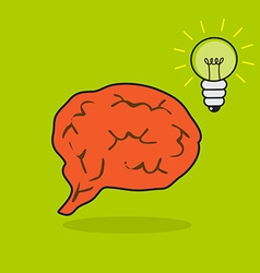 Brain and bulb vector