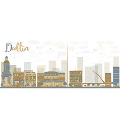 Abstract dublin skyline vector