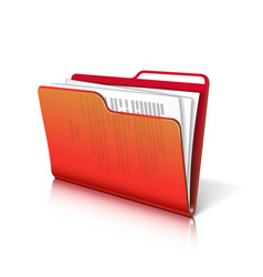Folder with papers vector