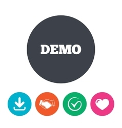 Demo sign icon demonstration symbol vector