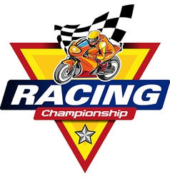 Racing Championship logo event vector image