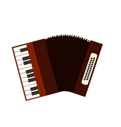 Accordion flat icon vector