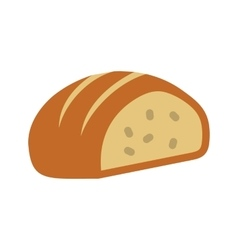 Sliced loaf of bread vector