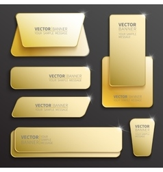 Set of glossy banners vector