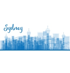 Abstract outline sydney city skyline vector