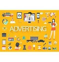 ADVERTISING FLAT vector image