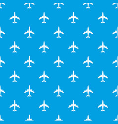 airplane pattern seamless blue vector image vector image
