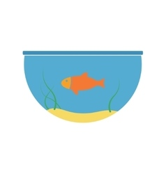 Aquarium and fish icon vector image vector image