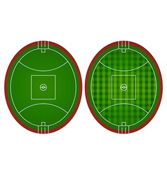 Australian rules football fields vector
